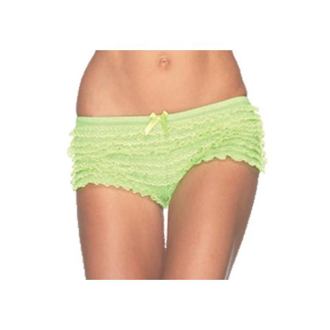 BRIEFS RUFFLE NEON GREEN