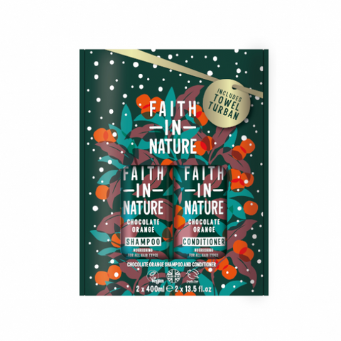 Pack champú y acondicionador Chocolate y Naranja -Faith in Nature-