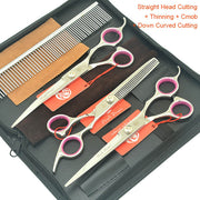 7.0 Inch 4Pcs/Set Pet Grooming Scissors - Groomed Petz