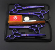 Purple dragon 7.0 inch Professional pet scissors - Groomed Petz