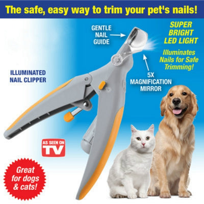 Pet Nail Clipper With Led Light - Groomed Petz