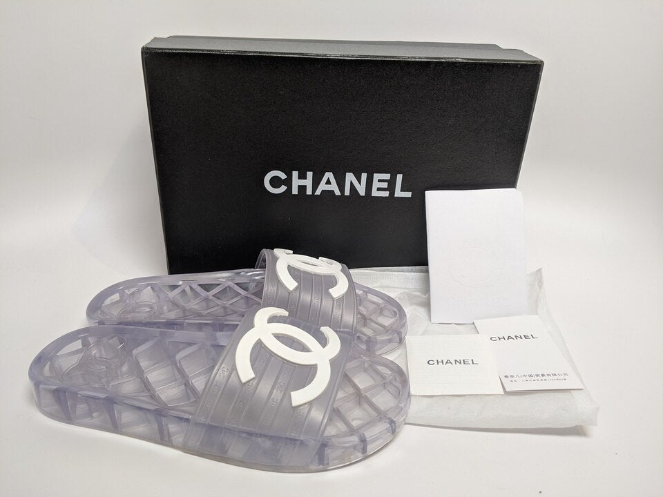 Chanel - Clear Jelly Slides – AsiaAnnMarie