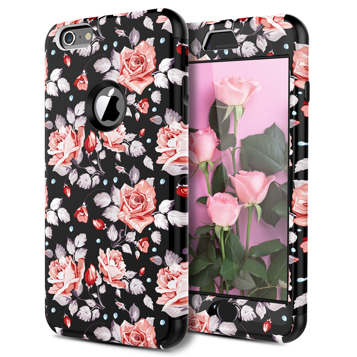 Iphone 6 Plus 6s Plus Case Floral Rose Flower Case For Women Girl
