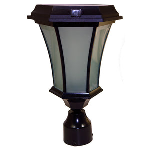 Solar Coach Lamp Light - Concave Glass, 3 mounting options