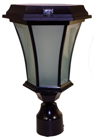 Solar Coach Lamp w/Flicker Flame & Concave Glass