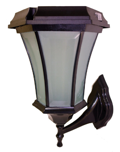 Solar Coach Lamp w/Flicker Flame with 3 Mounting Options