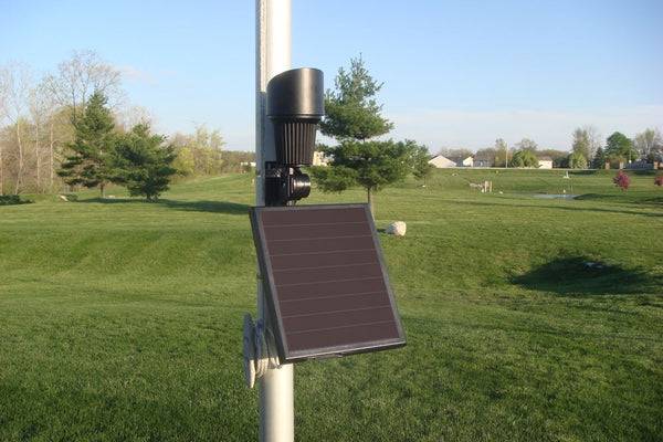 Solar Flag Light with Pole Mount Accessory