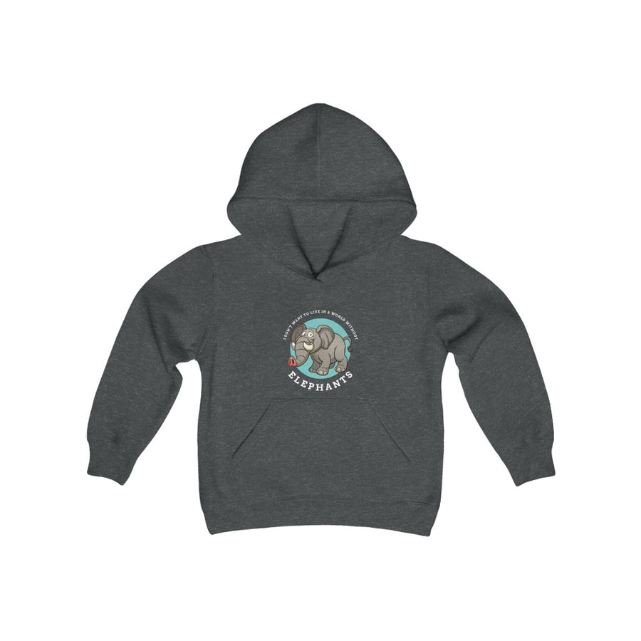 World Without Elephants - Youth Heavy Blend Hooded Sweatshirt