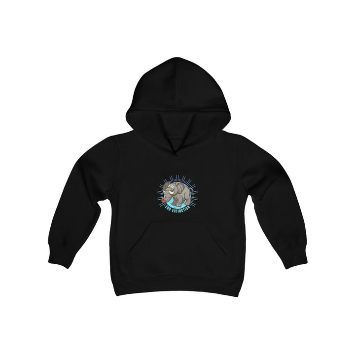 End Extinction (Elephant) - Youth Heavy Blend Hooded Sweatshirt
