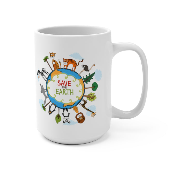 Save the Earth Illustration - Coffee Mug 15oz