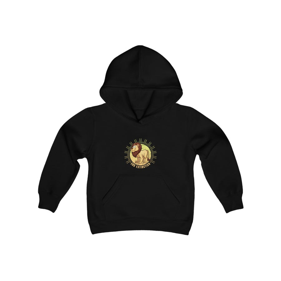End Extinction (Lion) - Youth Heavy Blend Hooded Sweatshirt