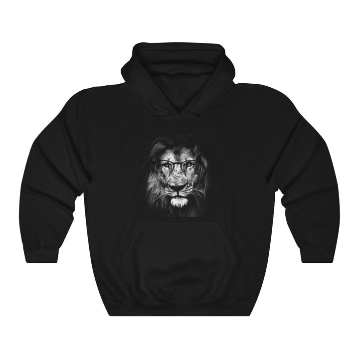 Lion Wearing Glasses - Unisex Heavy Blend™ Hooded Sweatshirt