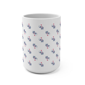 Elephants Pattern - Coffee Mug 15oz