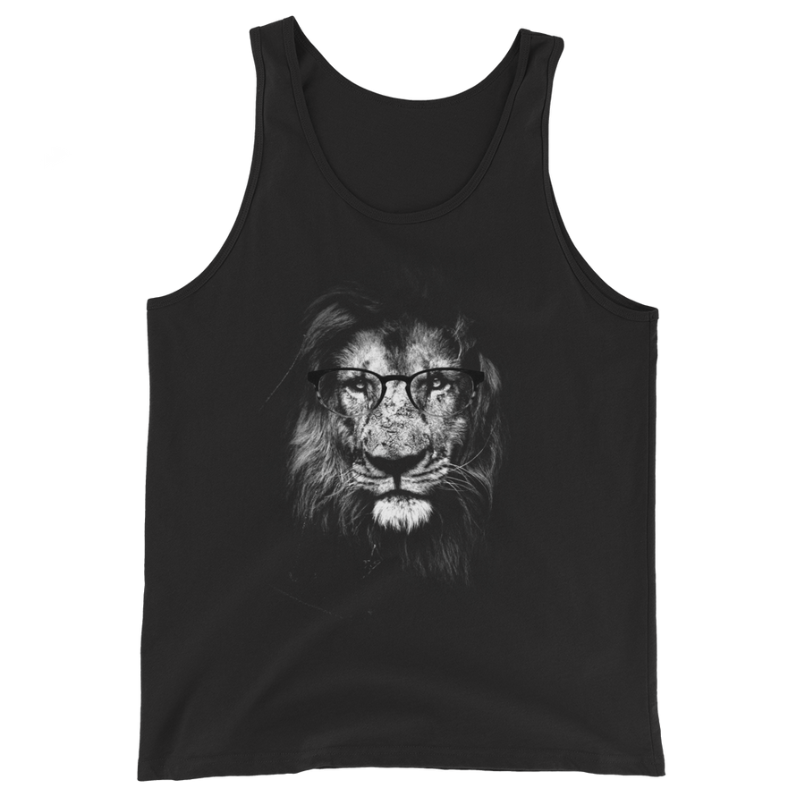 Lion Wearing Glasses - Mens Tank Top