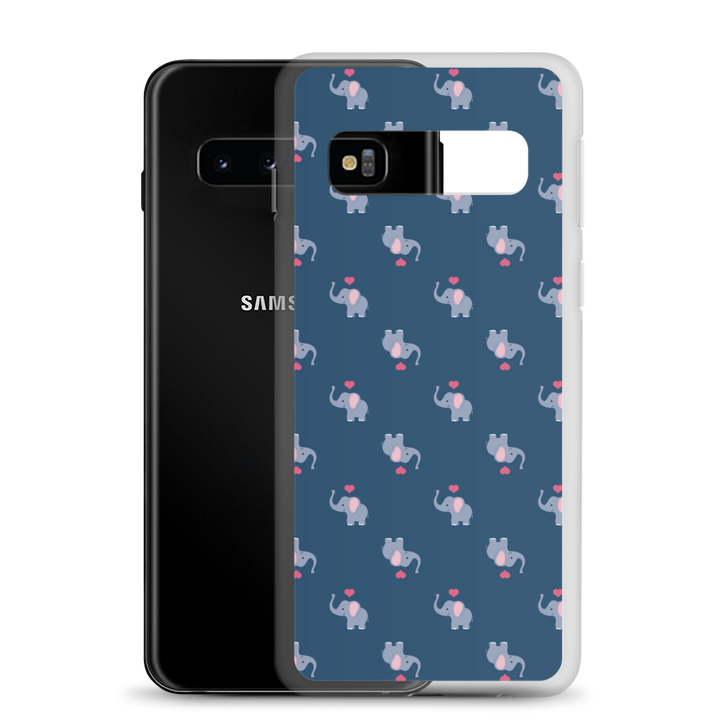I ❤ Elephants - Navy - Samsung Case