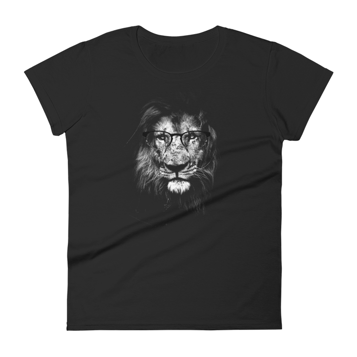Lion Wearing Glasses - Womens T-shirt