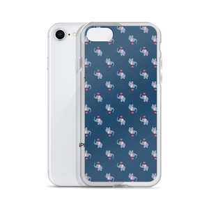 I ❤ Elephants - Navy - iPhone Case