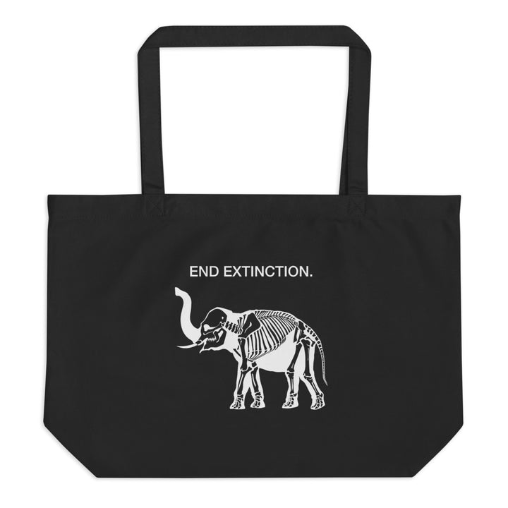 End Extinction - Large Organic Tote Bag