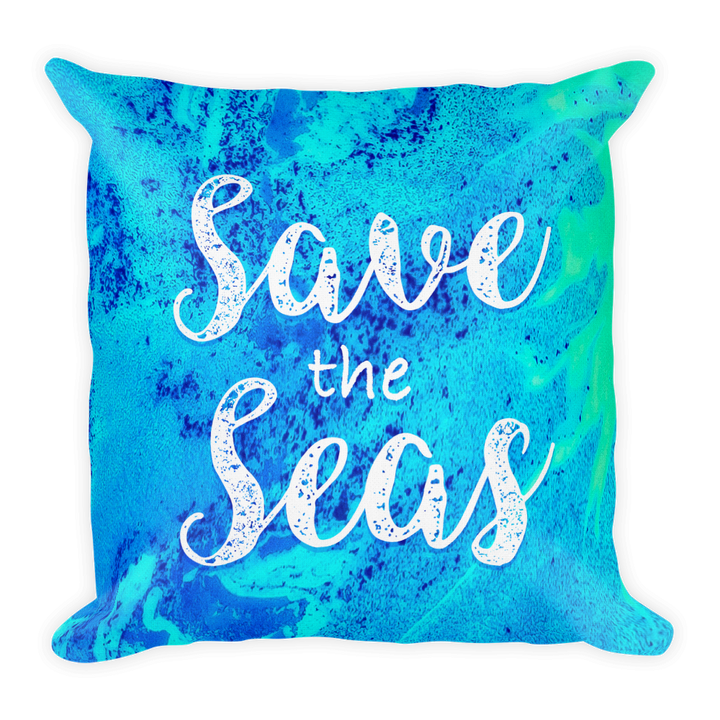 "Save the Seas - 18""x18"" Pillow"