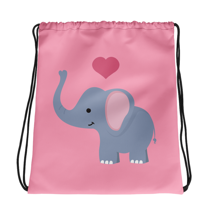 I ❤ Elephants - Drawstring Bag