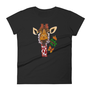 Giraffe Illustration - Womens T-shirt