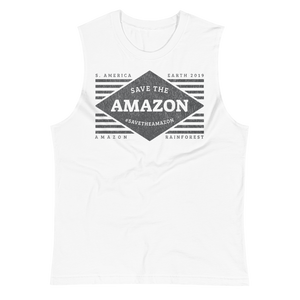 Save The Amazon - B&W - Mens Muscle Shirt