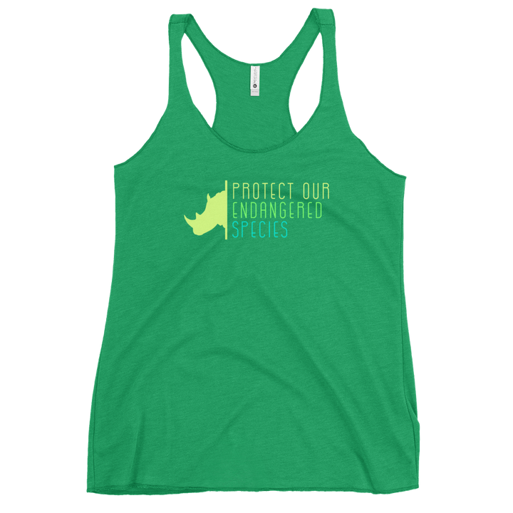 Protect Our Endangered Species - Womens Racerback Tank