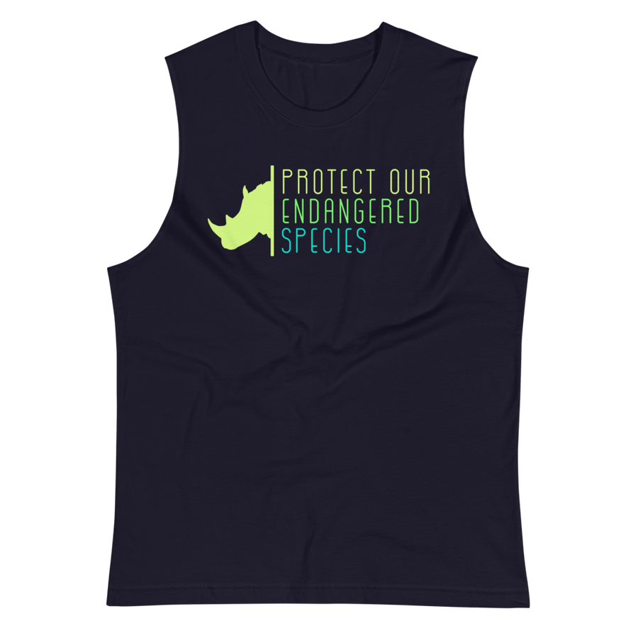 Protect Our Endangered Species - Mens Muscle Shirt