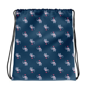 Elephant Pattern - Drawstring Bag