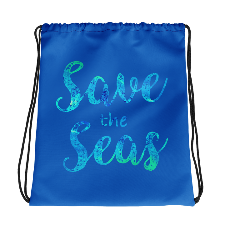 Save the Seas - Drawstring Bag