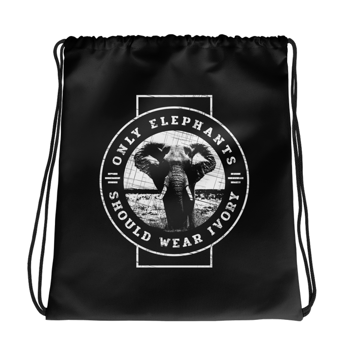 Only Elephants - Drawstring Bag