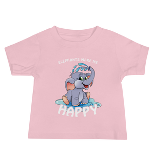 Elephants Makes Me Happy - Infant T-shirt (6-24M)