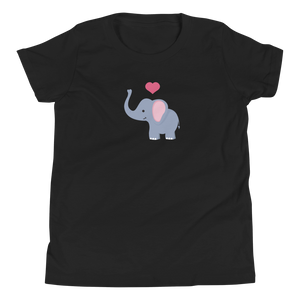 I ❤ Elephants - Youth Short Sleeve T-Shirt