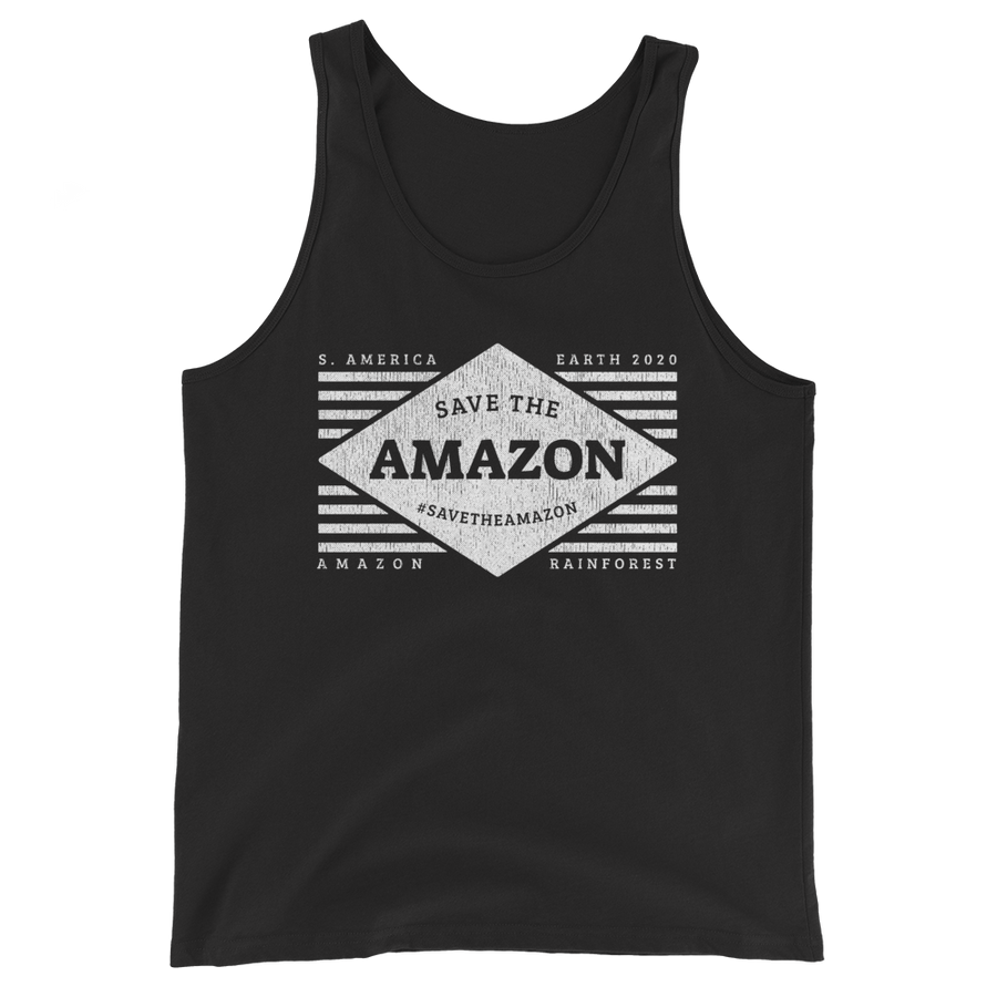 Save The Amazon - B&W - Mens Tank Top