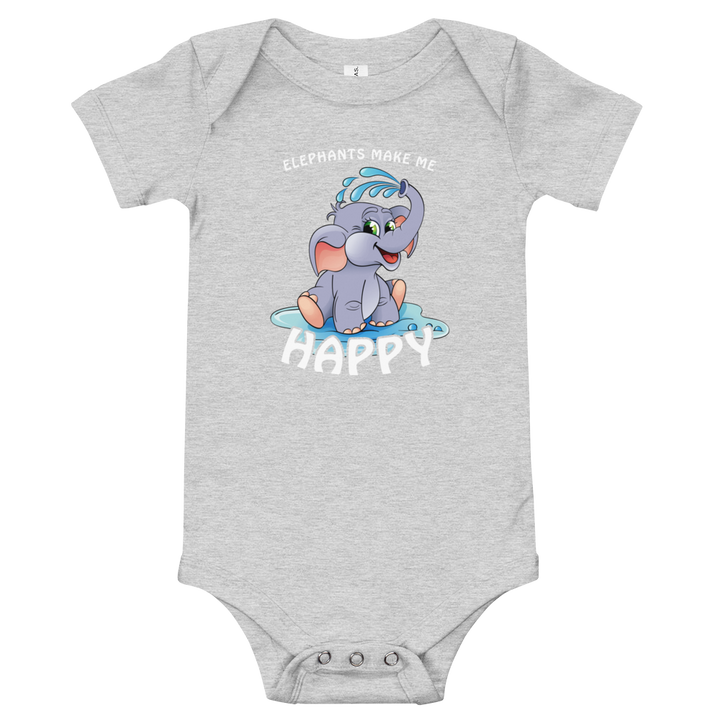 Elephants Makes Me Happy - Infant One Piece (3-24M)