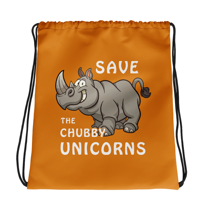 Save the Chubby Unicorns - Drawstring Bag