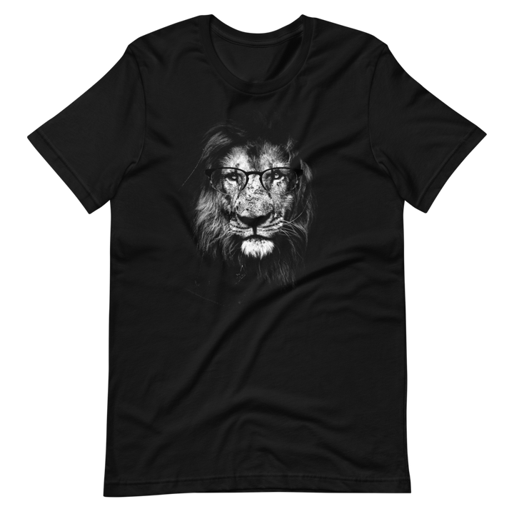 Lion Wearing Glasses - Mens T-Shirt