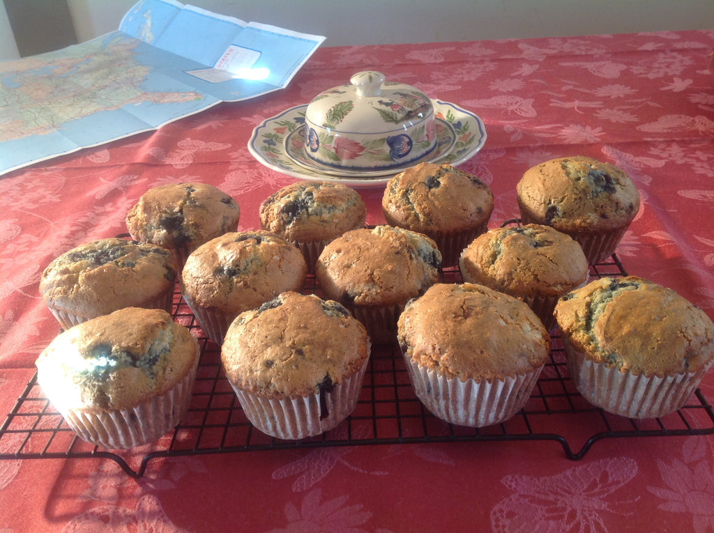Rustic Blueberry Muffins | Texas-sized