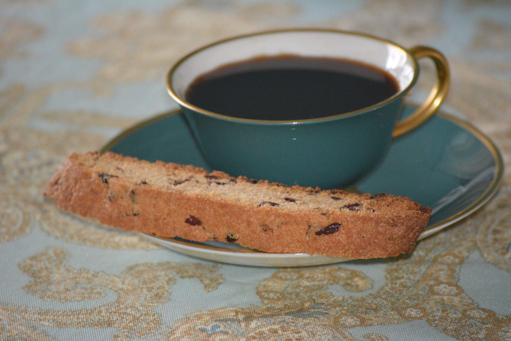 Fruity Lemon Biscotti with Coffee