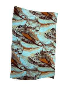 Marble Patterned Silk Scarf