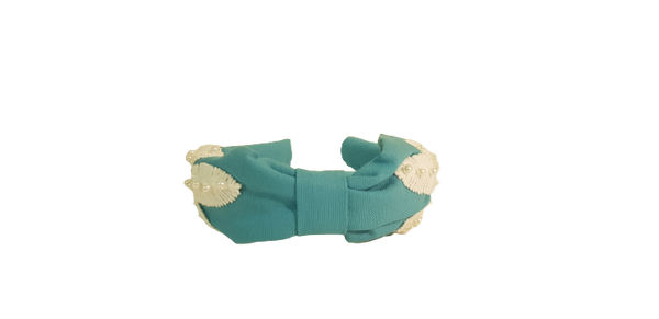 Headband Baby Blue Leaves