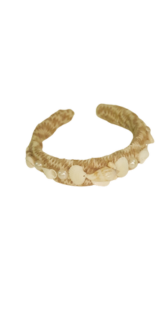 Headband Seashell Straw