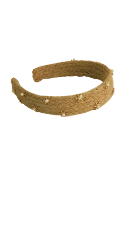 Headband Golden Straw