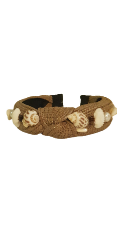 Headband Seashell Dark Brown