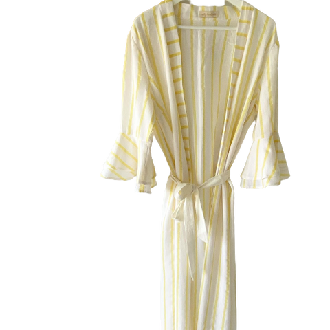 Summer Yellow Stripes Beach Dress
