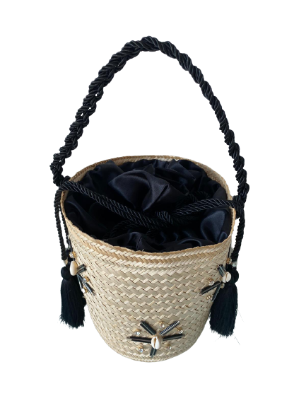 Bucket Bag Black Crystal