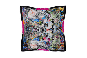 Blossoming Woman Silk Scarf