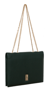 Fancy Note Bag Green-Navy Mirror
