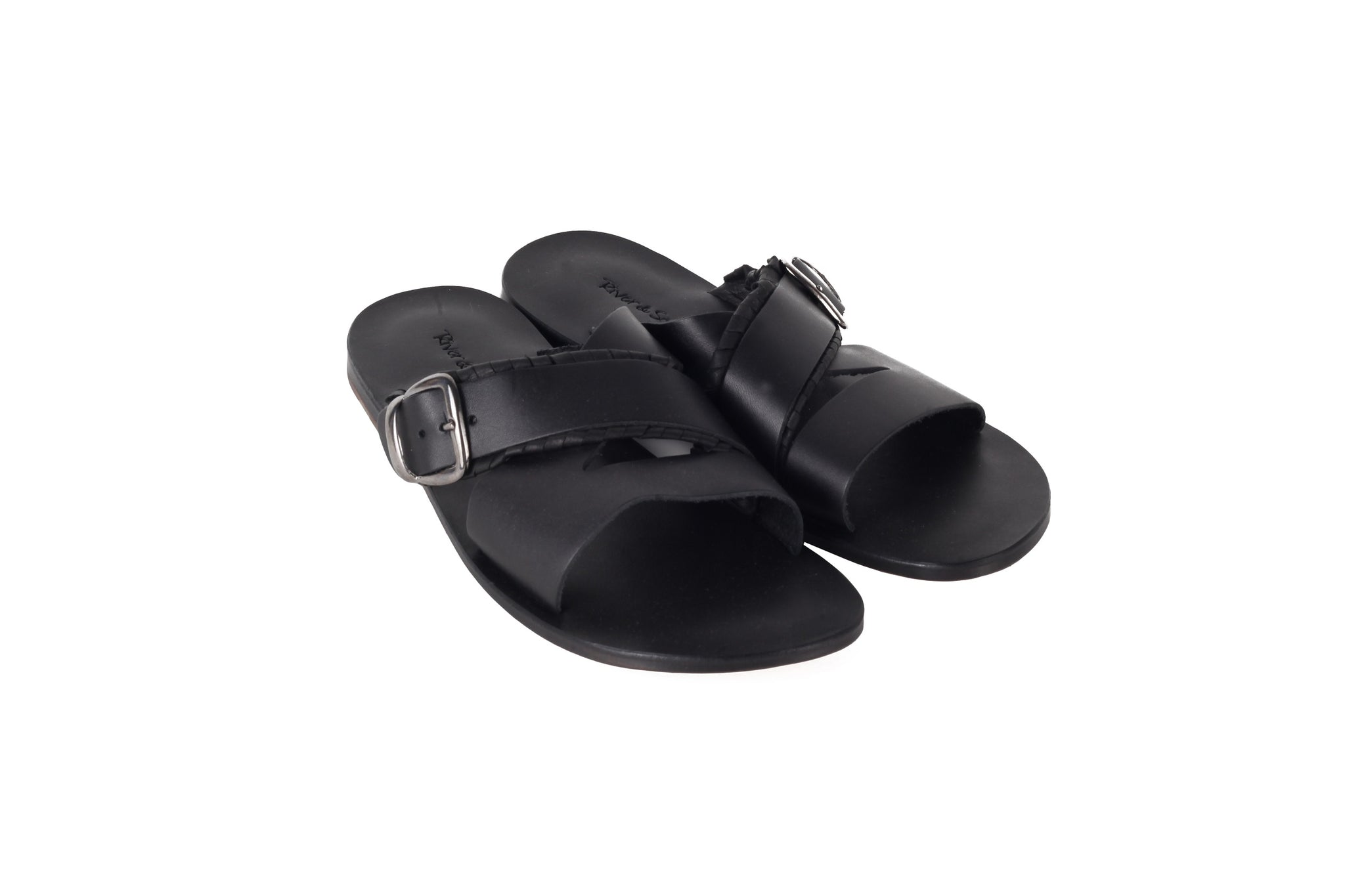 Only for Him Black Double Sided Sandal