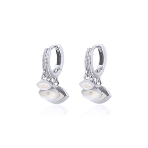 Triple Eye Earrings Silver